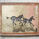 Cantering Zebras Limited Edition Signed Print