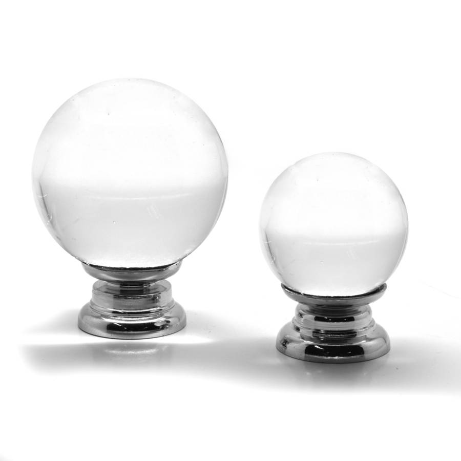 Crystal Glass Round Clear Cupboard Door Knobs