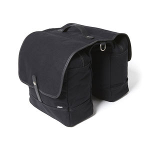 Double Pannier Black Canvas Bike Bag