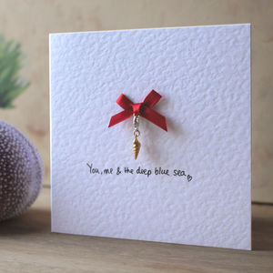 Personalised Sterling Silver Shell Keepsake Charm Cards