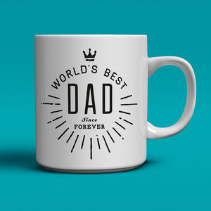 World's Best Dad Coffee Mug - token gifts for dad