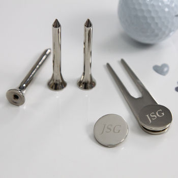 Silver Engraved Golf Set