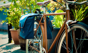 Blue Double Pannier Bike Bag