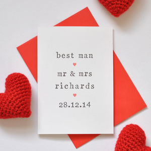 Personalised Best Man Card - wedding cards & wrap