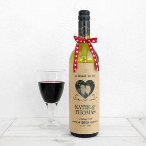 A Toast To Us Valentines Wine Bottle Card - love tokens for him