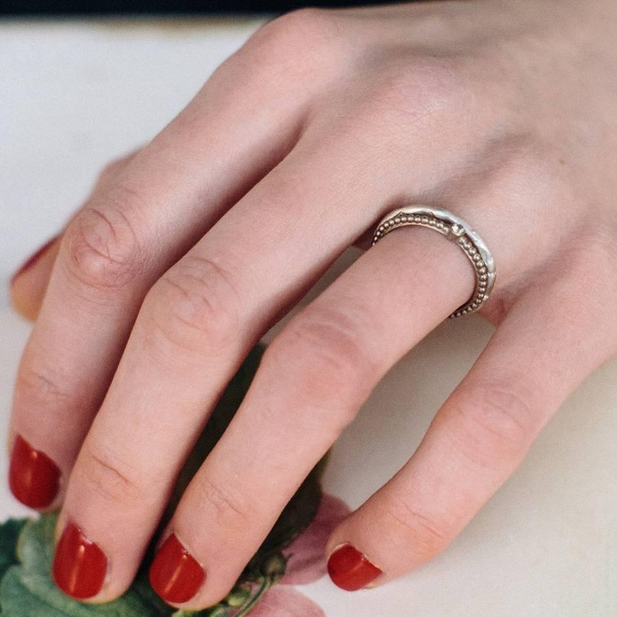organic wedding ring by alison macleod | notonthehighstreet.com
