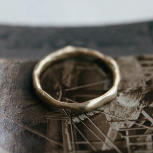 Organic Wedding Ring - rings