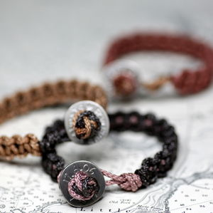 Personalised Men's Braided Button Bracelet - bracelets