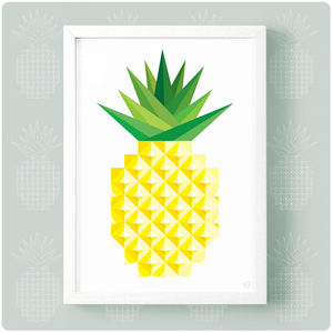 Geometric Pineapple Print - baby's room