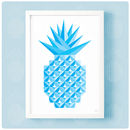 Geometric Pineapple Print