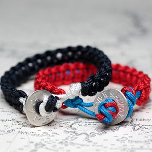 Personalised Men's Bright Button Bracelet - bracelets