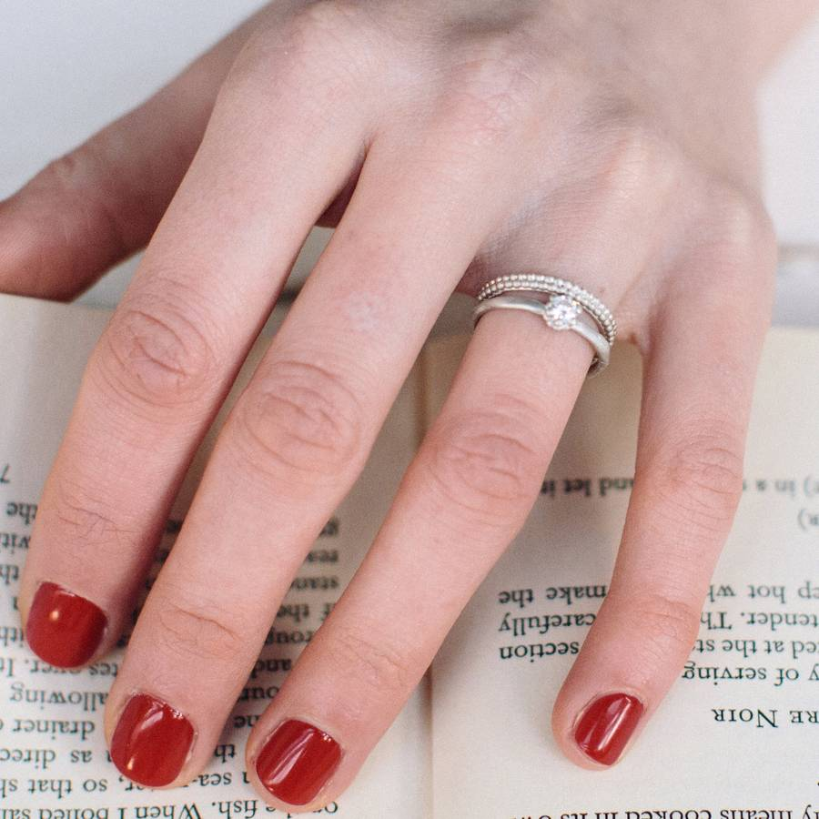 patterned wedding ring by alison macleod | notonthehighstreet.com