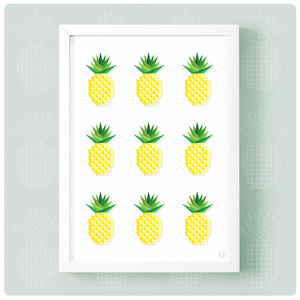 Geometric Multi Pineapple Print