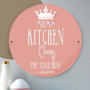 'Queen Of Everything' Personalised Metal Sign For Mum