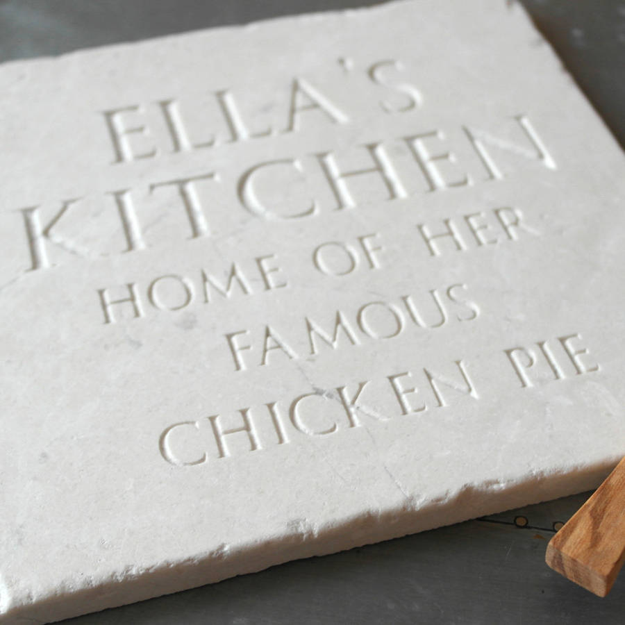 Personalised Stone Trivet By Letterfest Engraving