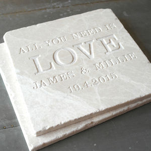 Personalised 'All You Need Is Love' Large Tile