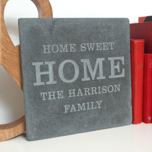 Personalised 'Home Sweet Home' Large Tile
