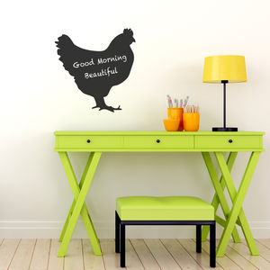 Hen Chalkboard Wall Sticker - wall stickers
