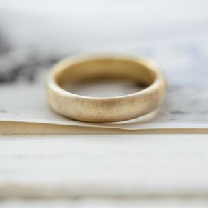 Gents Soft Pebble Wedding Ring - rings