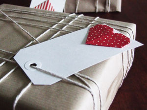 Pack Of Four Origami Heart Gift Tags - finishing touches