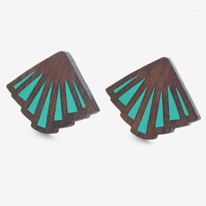 Art Deco Oyster Studs - women's jewellery