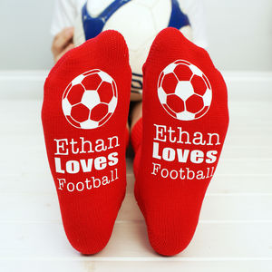 Personalised Kids Football Socks - clothing