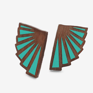 Art Deco Fan Studs - women's jewellery