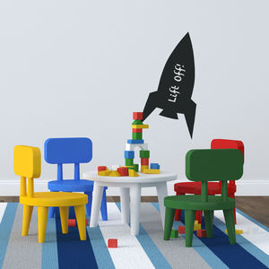 Rocket Chalkboard Wall Sticker - wall stickers