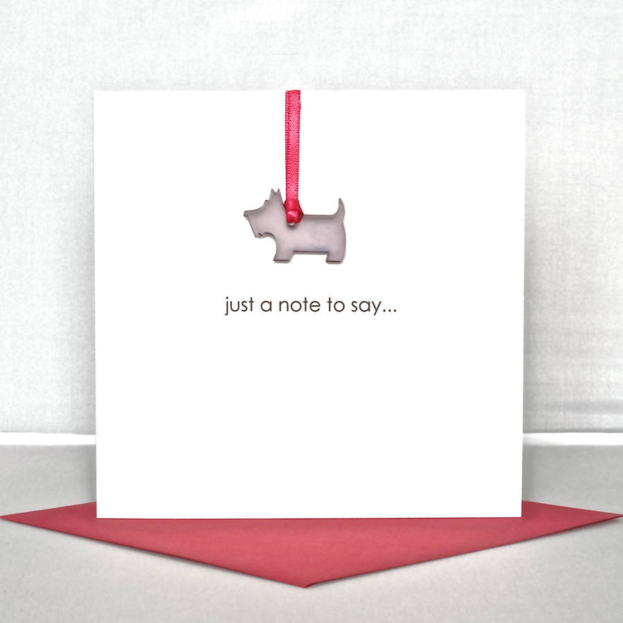 Just A Note To Say Greeting Card By The Cornish Card Company