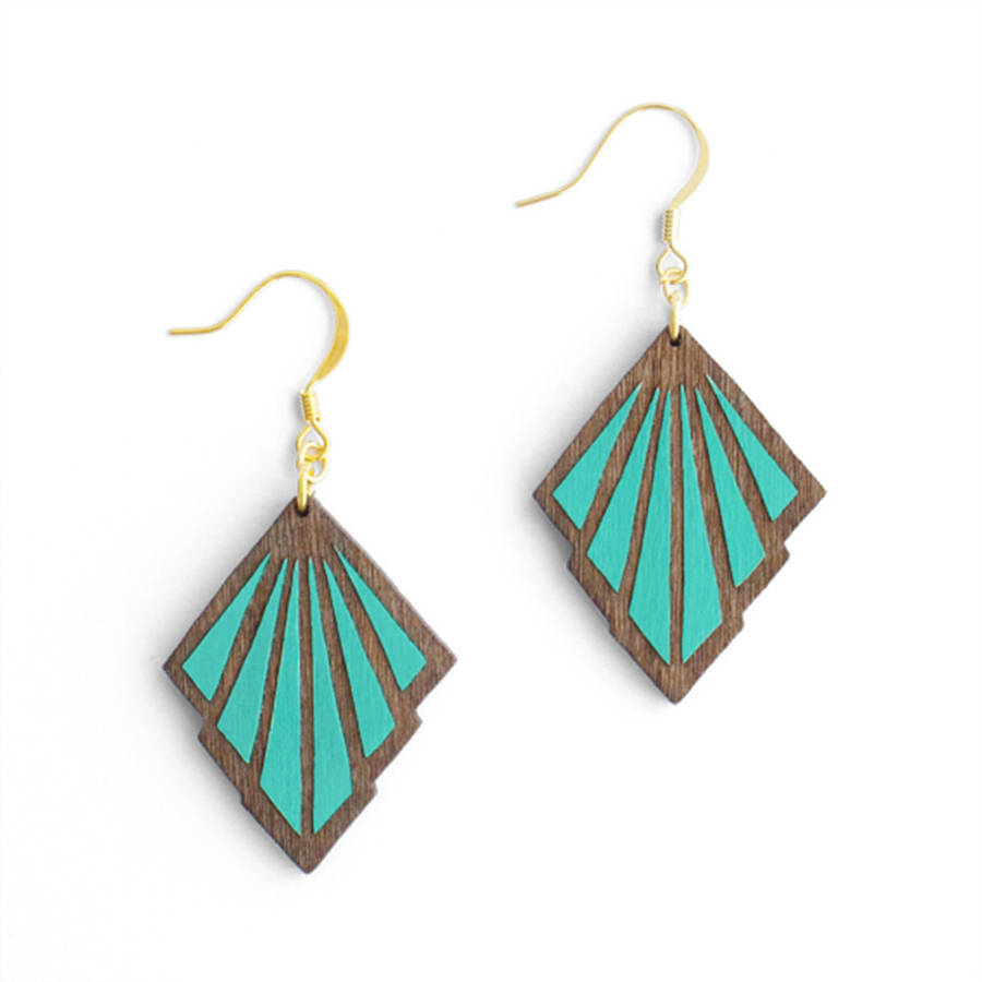 basket enameled earrings enamel blue art aqua of copper green product