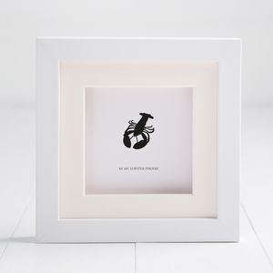 Personalised Be My Lobster Box Frame - picture frames