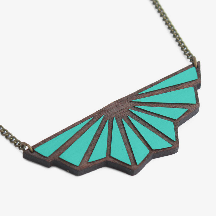 toile de fond art deco necklace by materia rica