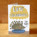'Let's Celebrate' Hedgehog Greeting Card