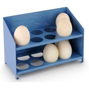 Egg Storage Rack / Classic Blue Metal - egg cups & cosies