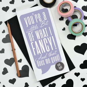 'What I Fancy' Valentine's Card - funny cards