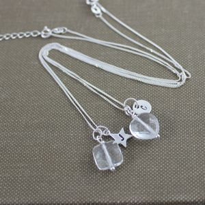 Personalised Faceted Crystal Necklace