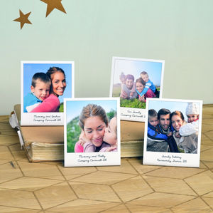Personalised Metal Polaroid Print, Set Of Four - gifts under £25 for her