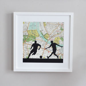 Personalised Football Map Print - posters & prints