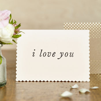 Luxe I Love You Card