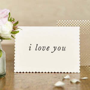 Luxe I Love You Card - sentimental cards