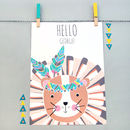 Personalised 'Hello' Roary Print