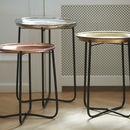 A Set Of Three Moroccan Style Tray Tables