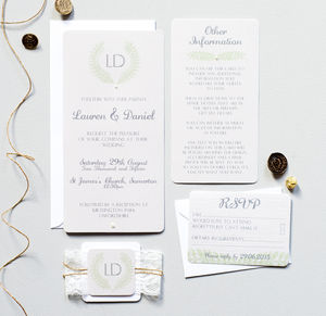 Grecian Champagne Wedding Invitation