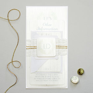 Grecian Champagne Wedding Invitation - invitations