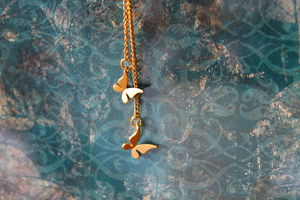 Gold Plated Butterfly Charm Necklace - necklaces & pendants