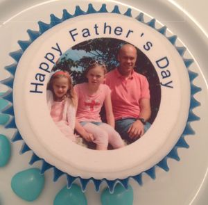 Father's Day Photo Cupcake Toppers