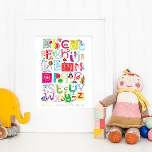 Personalised New Baby Alphabet Print