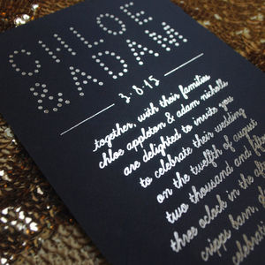 Spotlight Foiled Wedding Invitation - invitations