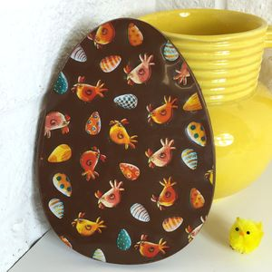 Chocolate Easter Egg With Chicks