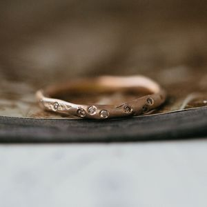 Organic Diamond Scatter Wedding Ring - fine jewellery